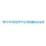 Pink Holy Communion Letter Banner  - 1.2m x 9.5cm - 6 PKG
