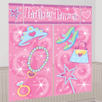 Party Princess Scene Setters - 12 PKG/5 - 1.65m x 1.9m