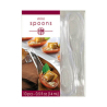 Clear Mini Plastic Curved Spoons - 12 PKG/10