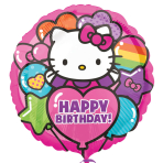 Hello Kitty Rainbow Happy Birthday Standard Foil Balloons - S60 5 PC