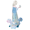 """Frozen AirWalkers Elsa the Snow Queen Foil Balloons 35""""/88cm w x 57""""/144cm h P93 - 5 PC"""