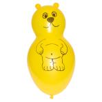 "Bear Shaped Yellow Latex Balloons 11""/27.5cm - 10PKG/4"