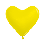 "Fashion Colour Heart Solid Yellow 020 Latex Balloons 6""/15cm - 100 PC"