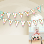 Boho Birthday Girl Pennant Banners 4.57m - 12 PC