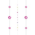 Flowers Balloon Fun Strings 1.82m - 6 PC