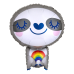 "Sloth with Rainbow Standard Shape Foil Balloons 16""/40cm w x 19""/48cm h S50 - 5 PC"