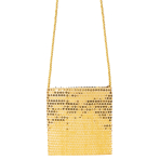 Sequined Gold Shoulder Bags - 6 PC