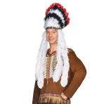 Indian Chief Feather Headdresses - 6 PC