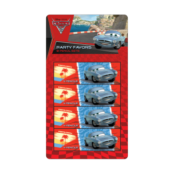 Cars 4 Pencil Sets 1.2m x 23cm - 6 PKG/3