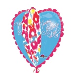 Happy Mother's Day Watercolour Heart UltraShape Foil Balloons P40 - 5 PC