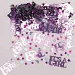 It's a Girl Metallic Confetti 14g - 12 PC