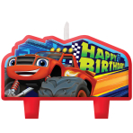 Blaze Happy Birthday Candles - 6 PKG/4