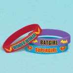 DC Super Hero Girls Rubber Bracelets - 6 PKG/6