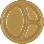Gold Plastic Divider Plates 26cm - 10 PKG/20