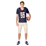 Football Quarterback Costume - Size S - 1 PC