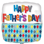 Father's Day Diamond Pattern Standard Foil Balloons S40 - 5 PC