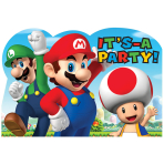 Super Mario Invitation Postcards - 6 PKG/8