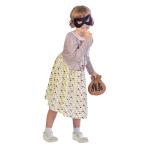 Burglar Granny Costume - Age 7-8 Years - 1 PC