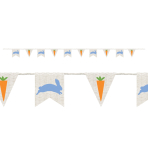 Easter Burlap Pennant Banners 2.74m - 6 PC