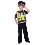 Police Officer Sustainable Costume - Age 8-10 Years - 1 PC