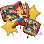 Jake & The Neverland Pirates Foil Balloon Bouquets P75 - 3 PC