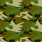 Camouflage Printed Gift Wrap w/Hang Tag - 6 PKG