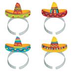Fiesta Sombrero Headbands - 6 PKG/8