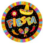 Fiesta Fun Round Plates, 27cm - 12 PKG/8