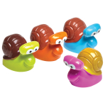 Bulk Packed Pull Back Racing Snails - 24 PC