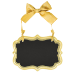 Small Gold Glitter Marquee Chalkboard MDF Signs 14cm x 10cm x 0.7cm - 16 PC