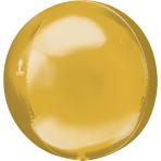 "Gold Orbz Packaged Foil Balloons 15""/38cm x 16""/40cm G20 - 5 PC"