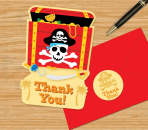 Pirate Party Postcard Thank You Cards - 6 PKG/8