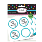 Candy Buffet Scalloped Labels Caribbean Blue - 24 PKG/5