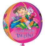 "Dora - Orbz  Foil Balloons - 15""/38cm w x 16""/40cm h - G40 - 5PC"