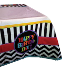Celebration Happy Birthday Plastic Tablecovers 1.2m x 1.8m - 6 PC
