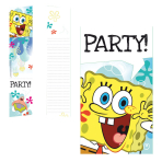 SpongeBob Invitations & Envelopes - 10 PKG/6