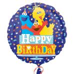 Sesame Street Birthday Confetti  Standard Foil Balloons  - S60 5 PC