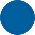 Bright Royal Blue Paper Plates 18cm - 12 PKG/8