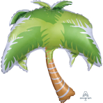 Summer Scene Palm Tree SuperShape Foil Balloons P35 - 5 PC