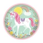 Magical Unicorn Paper Plates 23cm - 12 PKG/8