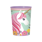 Magical Unicorn Plastic Favour Cups 473ml - 12 PC