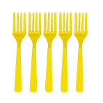 Sunshine Yellow Heavy Weight Plastic Forks - 12 PKG/48