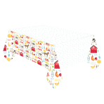 Barnyard Birthday Plastic Tablecovers 1.37m x 2.6m - 6 PC