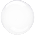 "Crystal Clearz Packaged Balloons 18""/46cm S40 - 5 PC"
