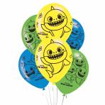 """Baby Shark 4 Sided Print 11""""/27.5cm - 6 PKG/6"""