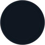 Black Paper Plates 17.7cm - 12 PKG/8