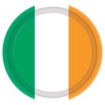 Ireland Flag Paper Plates 22.8cm  - 6 PKG/8
