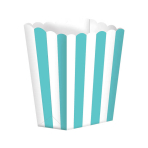 Robin Egg Blue Candy Buffet Popcorn Treat Boxes - 24 PKG/5