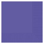 Purple Beverage Napkins 2ply 23cm - 12 PKG/20