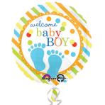 Baby Feet Boy Standard Foil Balloon S40 - 5 PC